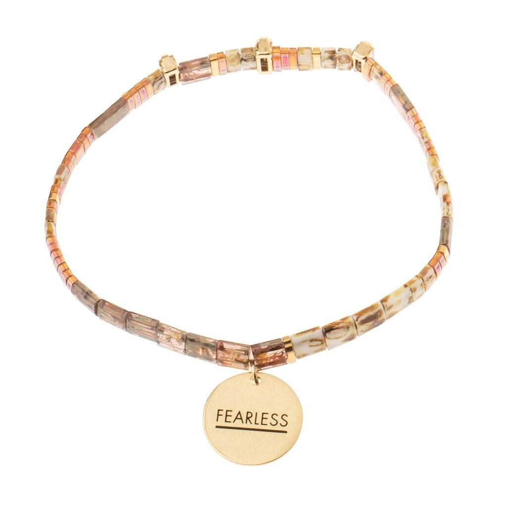 Miyuki Charm Bracelet - Fearless