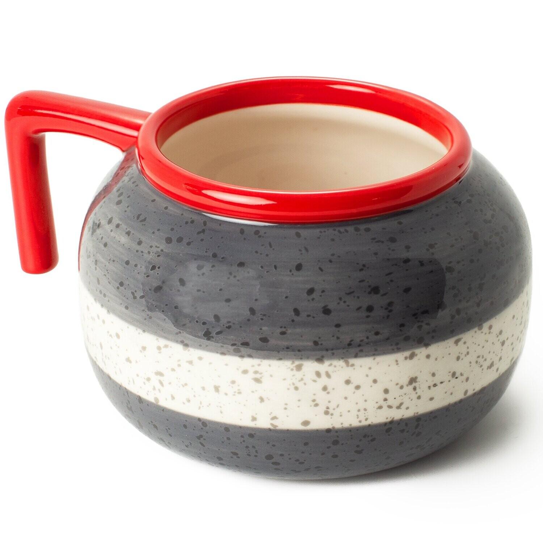 Curling Rock Mug - Red