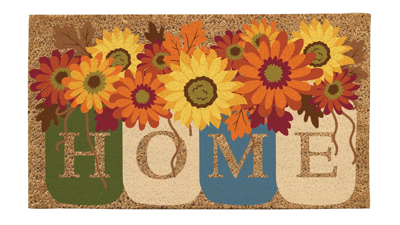 Fall Home Mason Jars Coir Mat