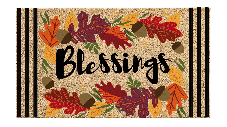 Autumn Blessings Coir Mat