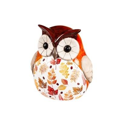 Ceramic Fall Harvest Owl S