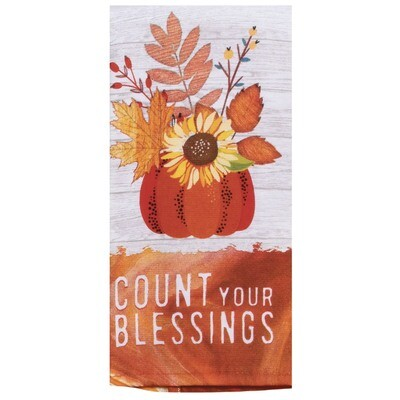 Harvest Blessings Count Blessings DP Terry Towel