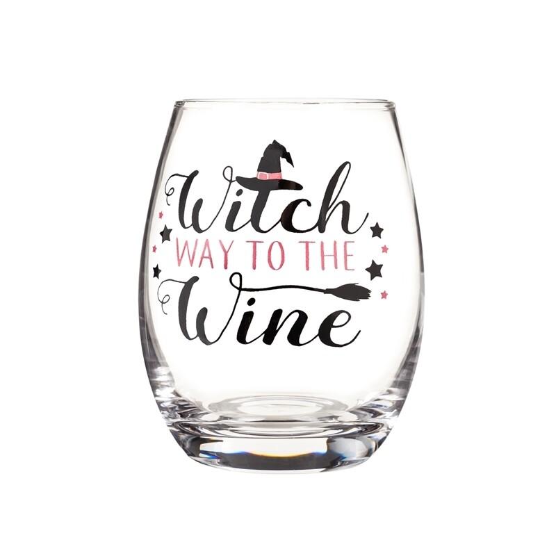 Stemless Wine Glass Witch Way