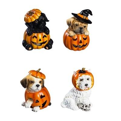 LED Pumpkin & Dog