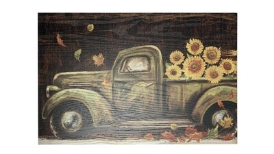 Fall Truck Wooden Wall Sign