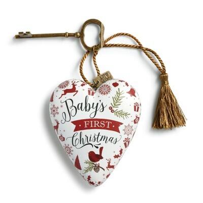Art Heart - Babys First Christmas