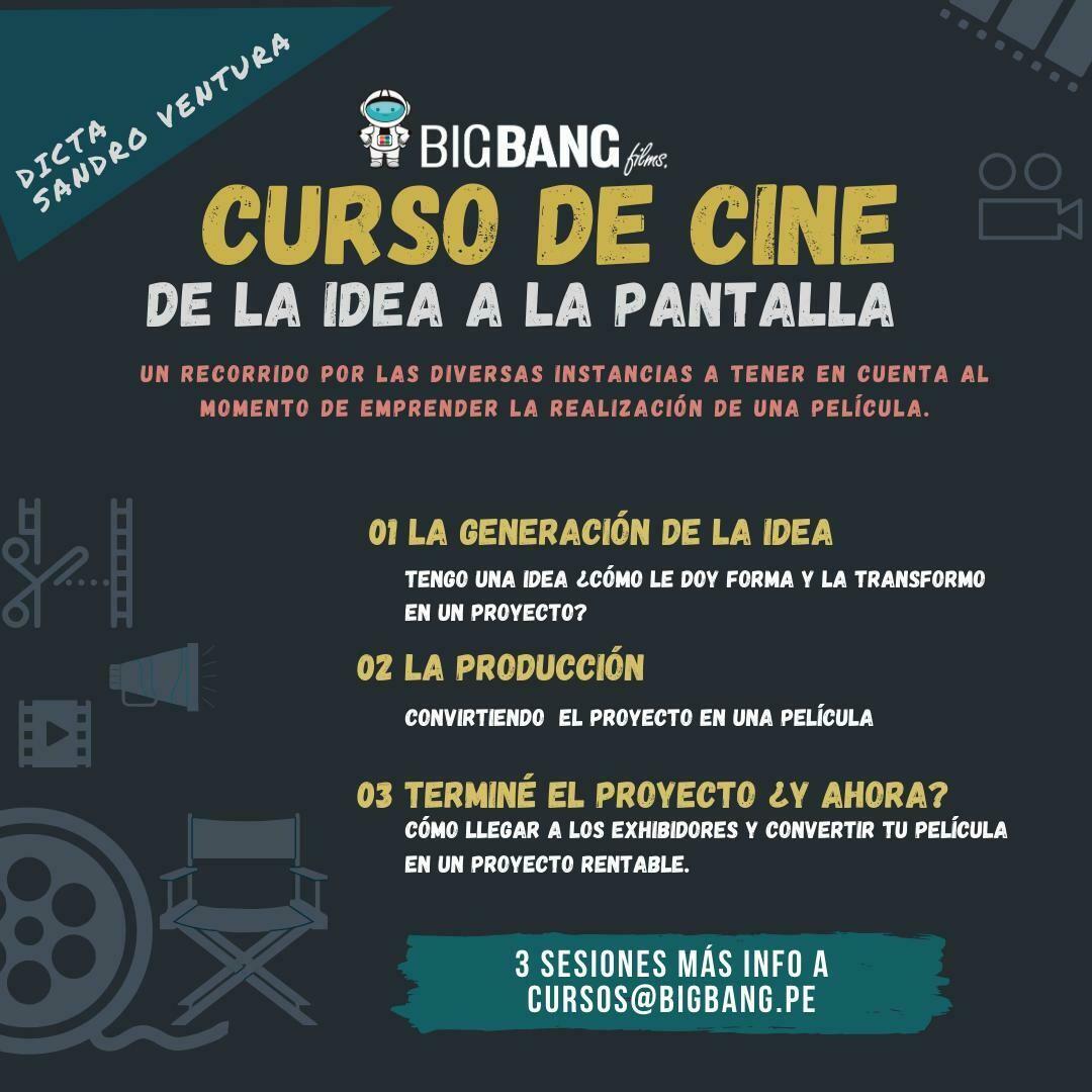 CURSO DE CINE DE LA IDEA A LA PANTALLA