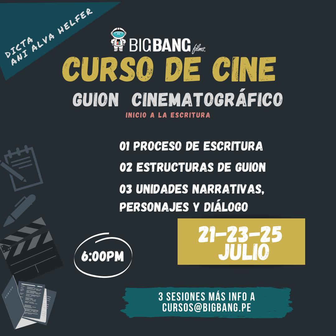 CURSO DE CINE GUION CINEMATOGRAFICO