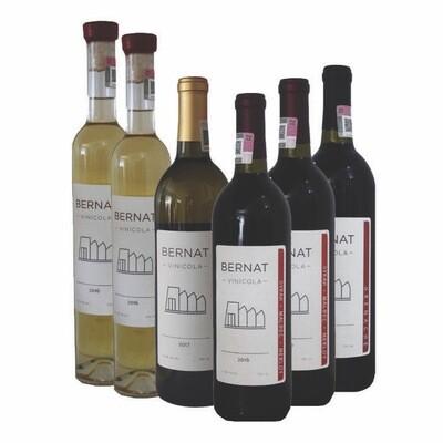 2 Sauv. Blanc, Muscat & Albariño + 1 Viognier & Chardonnay + 2 Syrah, Malbec & Merlot, + 1 Grenache