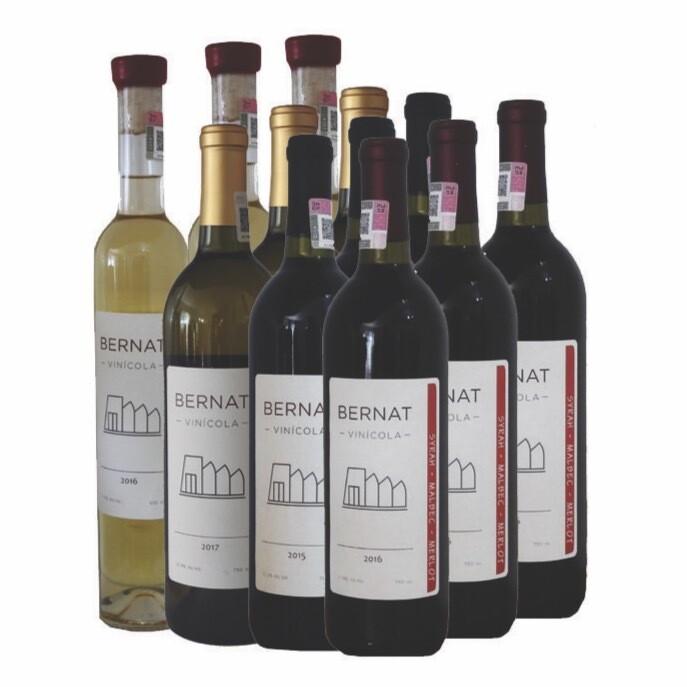 3 Sauv. Blanc, Muscat & Albariño + 3 Viognier & Chardonnay + 3 Grenache + 3 Syrah, Malbec & Merlot