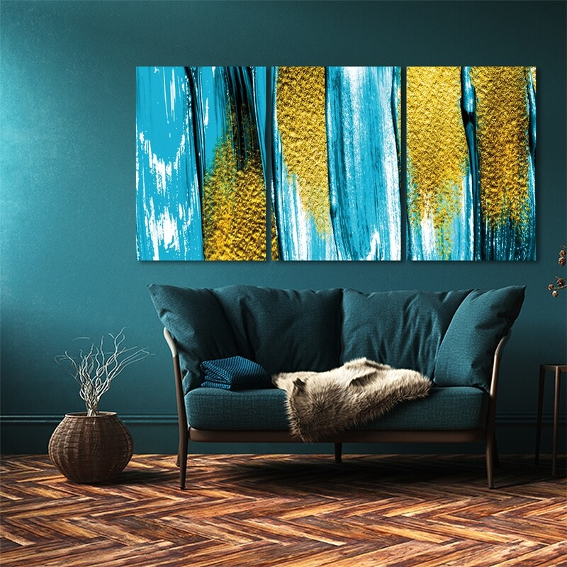 Abstract Fluid Art Painting- Modern Luxury Acrylic Glass Wall art - Frameless and Ready to Hang