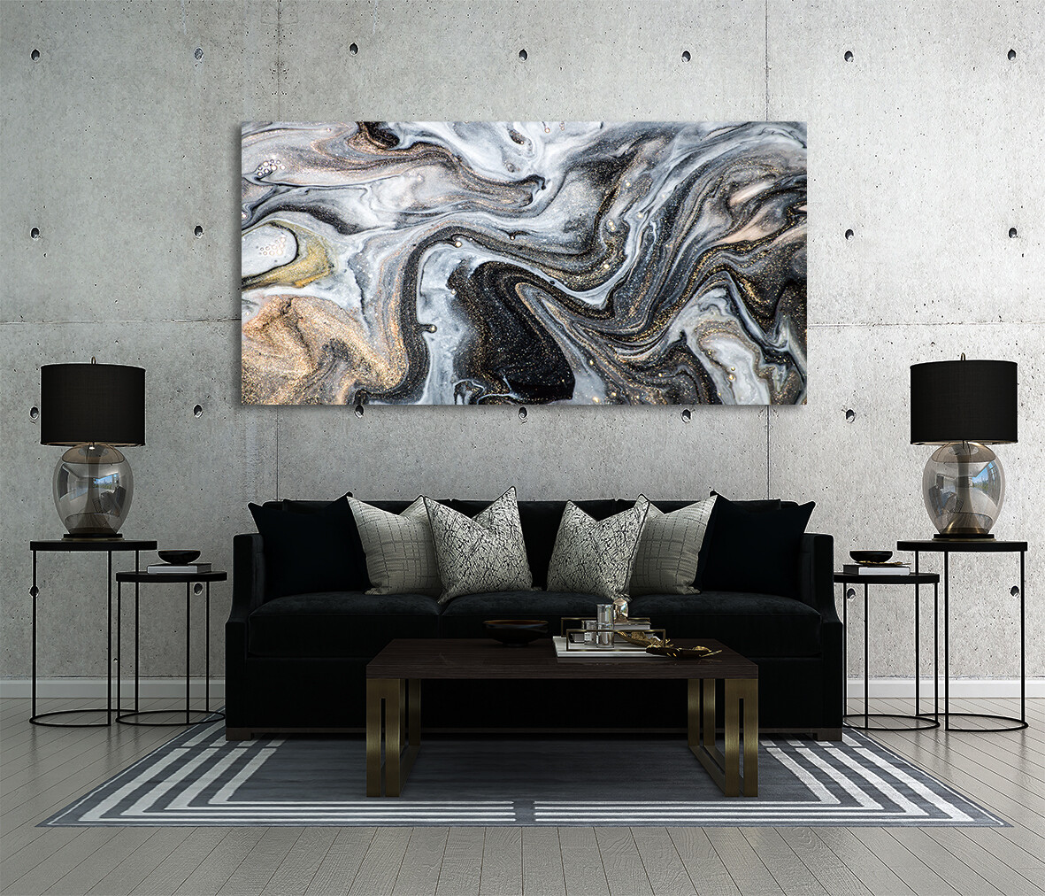 Fluid Arts  - Modern Luxury Wall art Printed on Acrylic Glass - Frameless and Ready to Hang