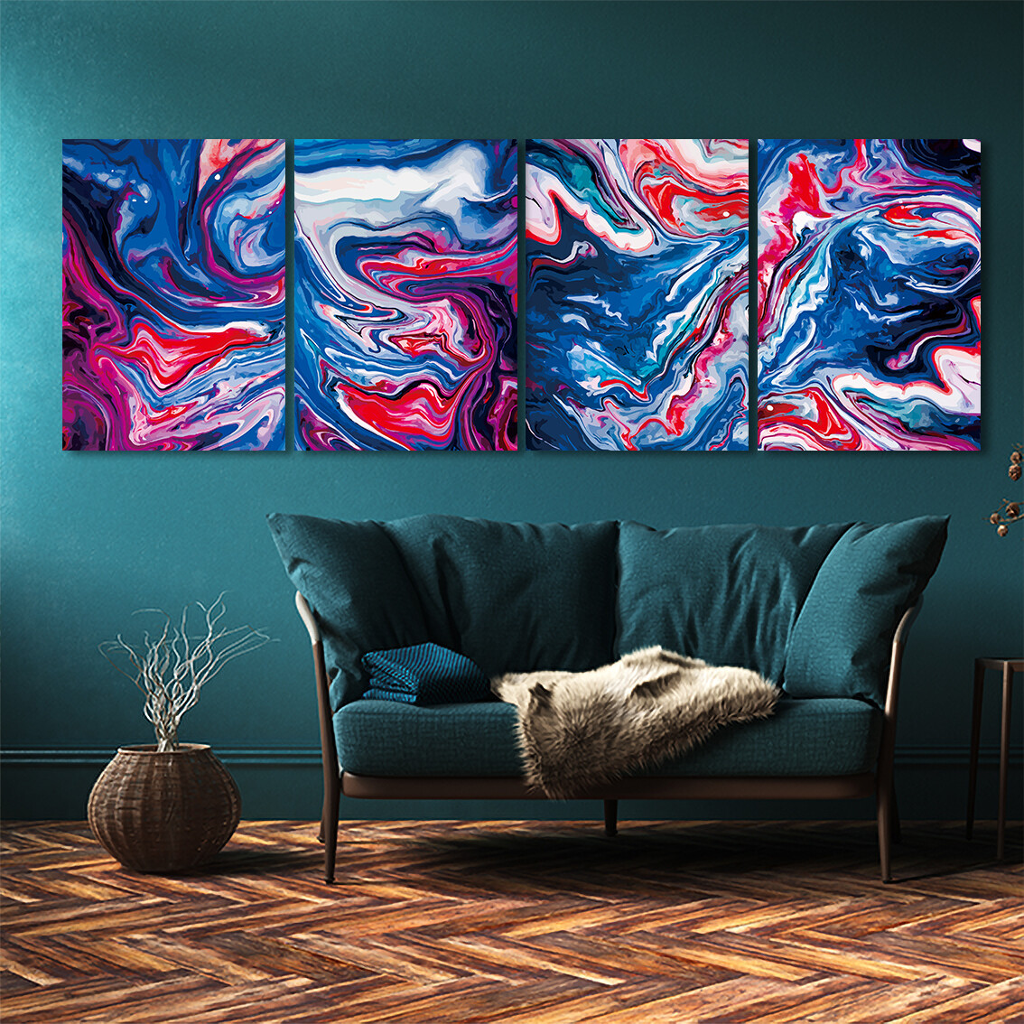 Waves  - Modern Luxury Wall art Printed on Acrylic Glass - Frameless and Ready to Hang