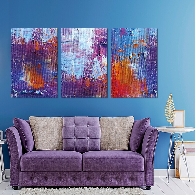 Colour Texture Abstract (Framed)   - Modern Luxury Wall art Printed on Acrylic Glass - Framed and Ready to Hang