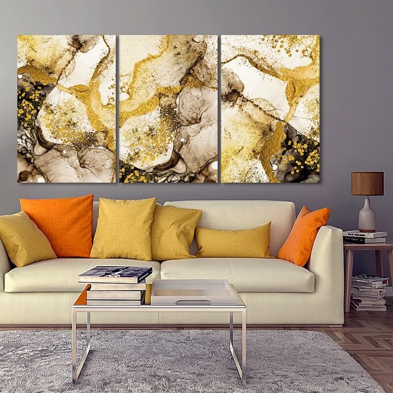 Fluid Art  - Modern Luxury Wall art Printed on Acrylic Glass - Frameless and Ready to Hang