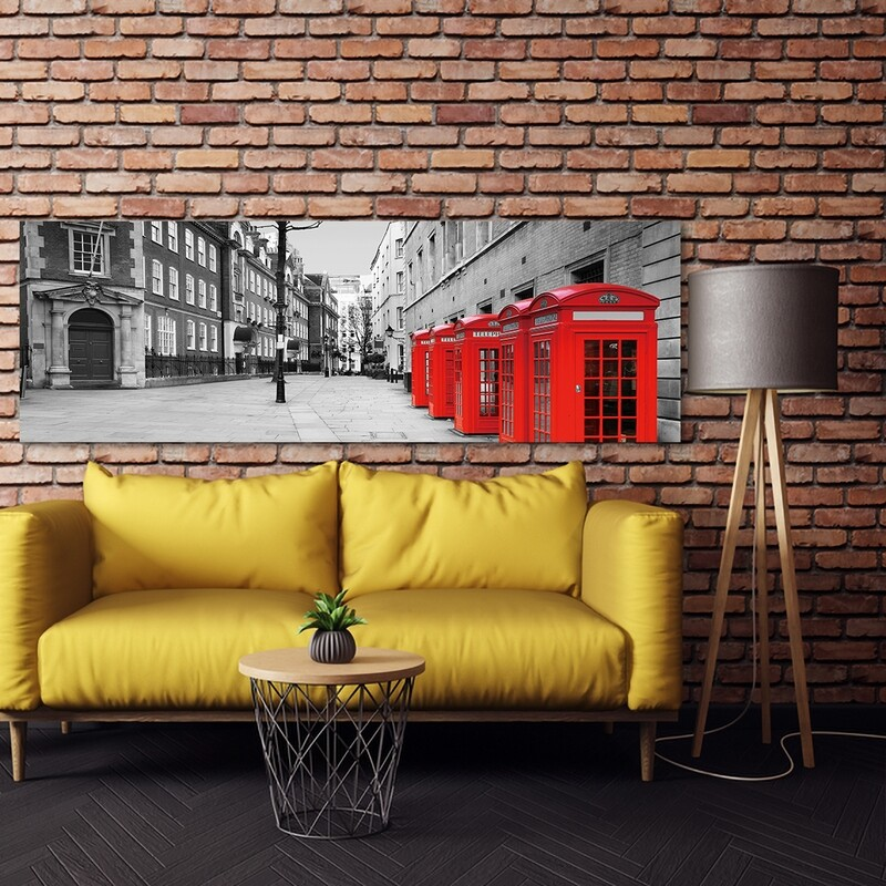 London Red Telephone Booth  - Modern Luxury Wall art Printed on Acrylic Glass - Frameless and Ready to Hang