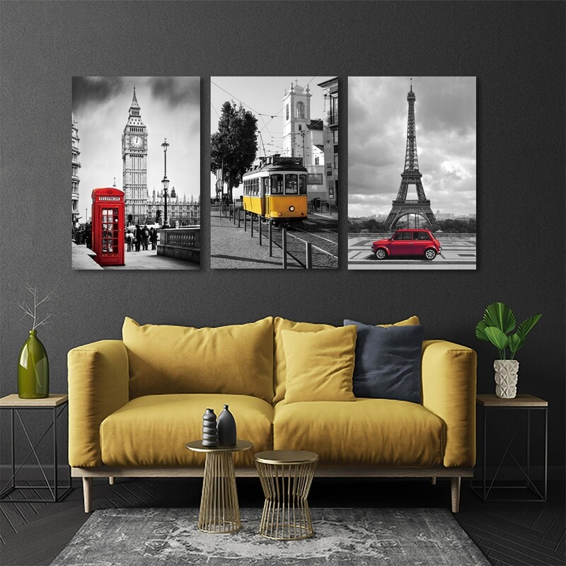 Paris Attractions  - Modern Luxury Wall art Printed on Acrylic Glass - Frameless and Ready to Hang