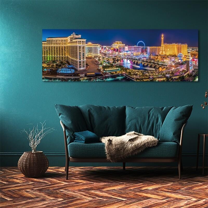 Las Vegas Skyline  - Modern Luxury Wall art Printed on Acrylic Glass - Frameless and Ready to Hang