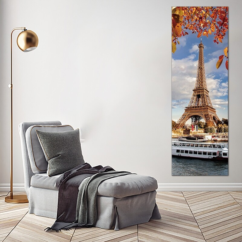 Eiffel Tower Paris - Modern Luxury Wall art Printed on Acrylic Glass - Frameless and Ready to Hang