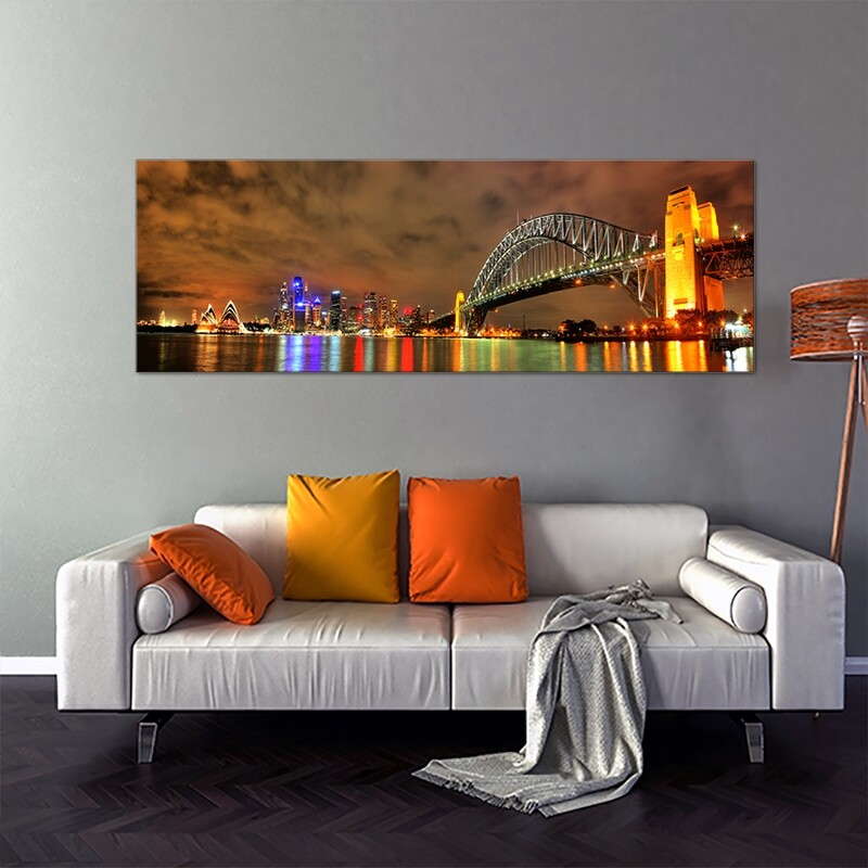Sydney Harbour  - Modern Luxury Wall art Printed on Acrylic Glass - Frameless and Ready to Hang