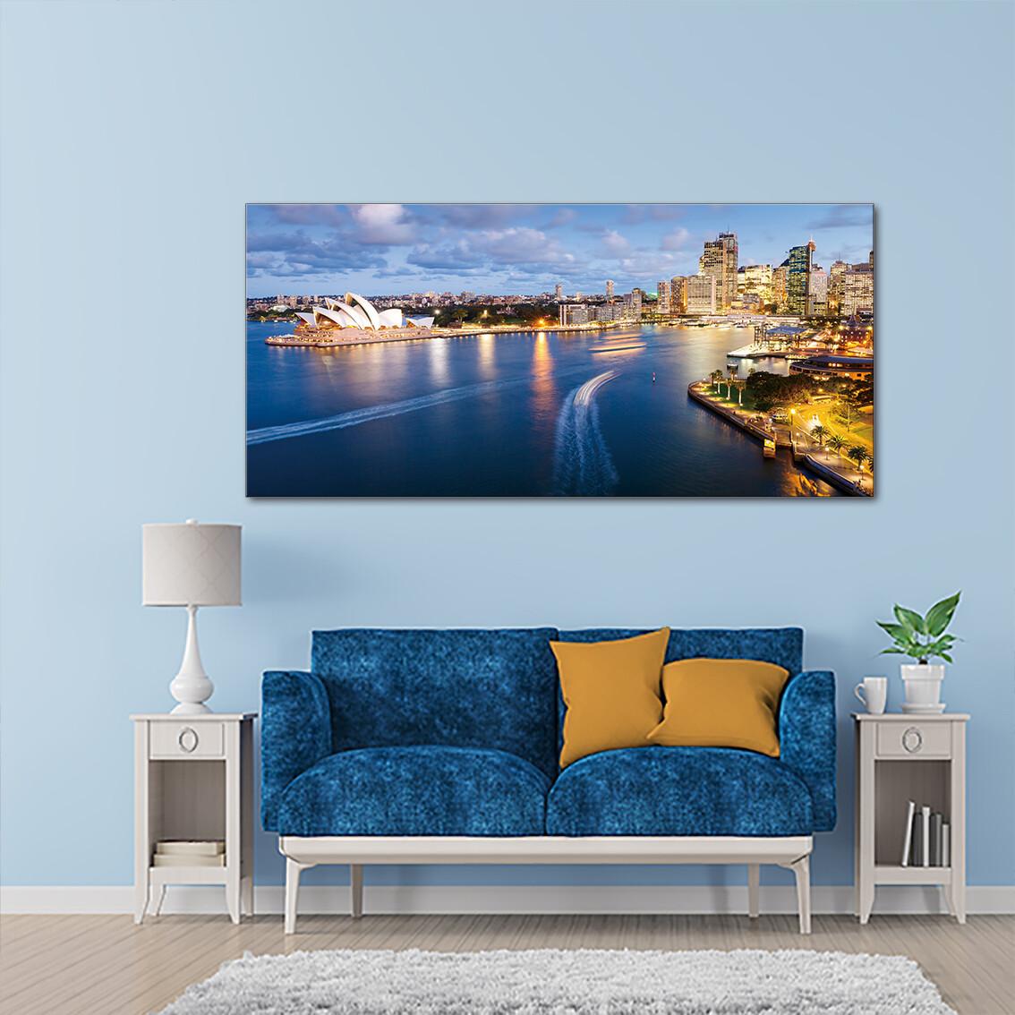 Sydney Circular Quay  - Modern Luxury Wall art Printed on Acrylic Glass - Frameless and Ready to Hang