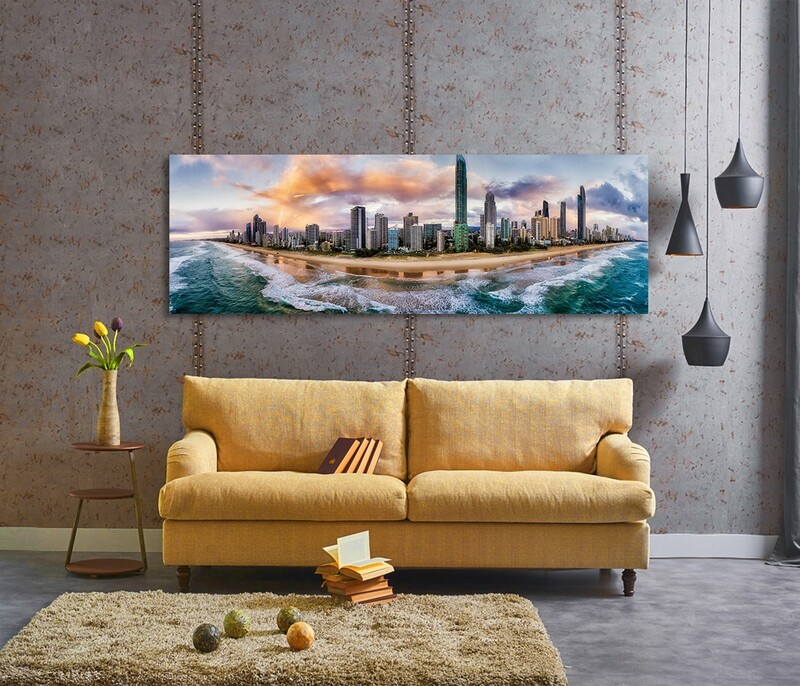 Gold Coast Aerial View  - Modern Luxury Wall art Printed on Acrylic Glass - Frameless and Ready to Hang
