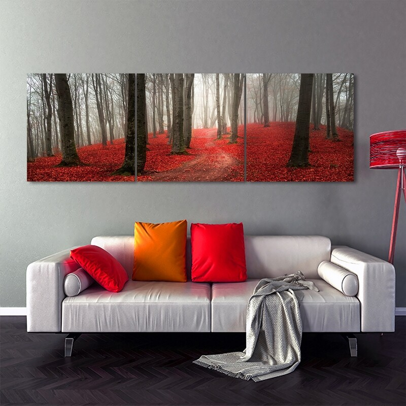 Enchanted Forest  - Modern Luxury Wall art Printed on Acrylic Glass - Frameless and Ready to Hang