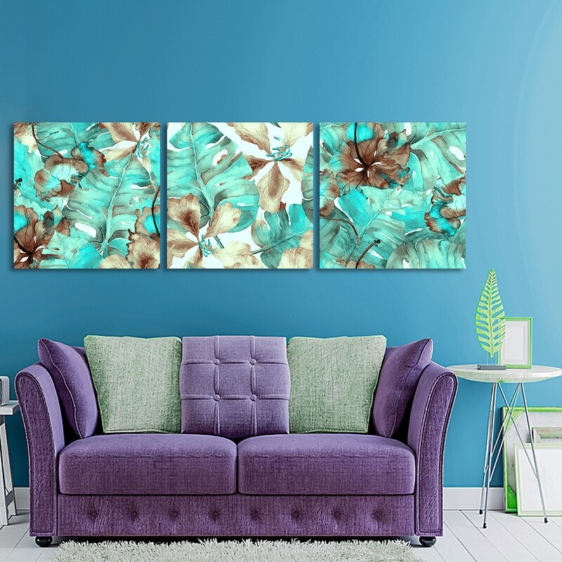 Hawaiian Floral Hibiscus Plants - Modern Luxury Wall art Printed on Acrylic Glass - Frameless and Ready to Hang