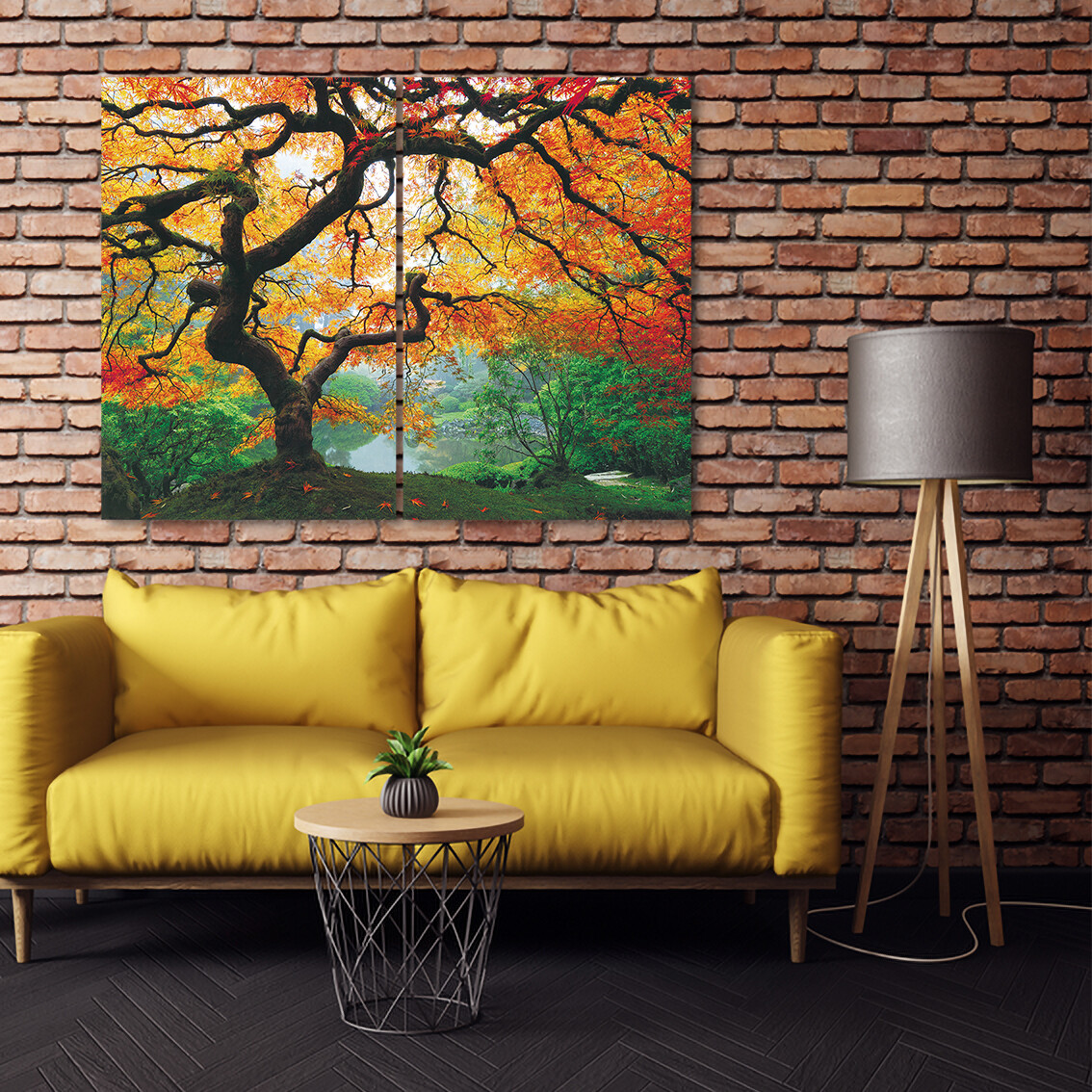 Japanese Maple Tree  - Modern Luxury Wall art Printed on Acrylic Glass - Frameless and Ready to Hang