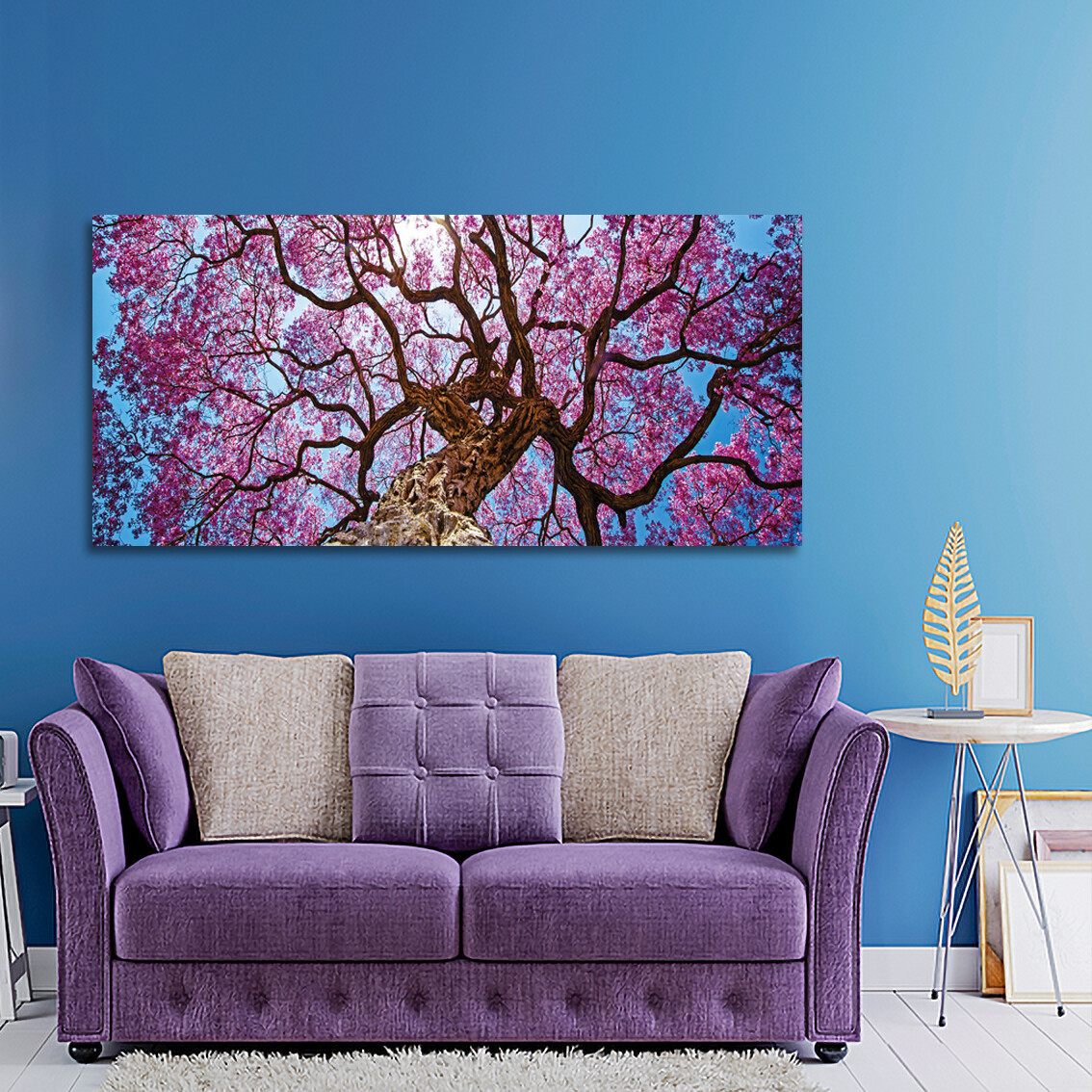 Pink Lapacho Tree  - Modern Luxury Wall art Printed on Acrylic Glass - Frameless and Ready to Hang