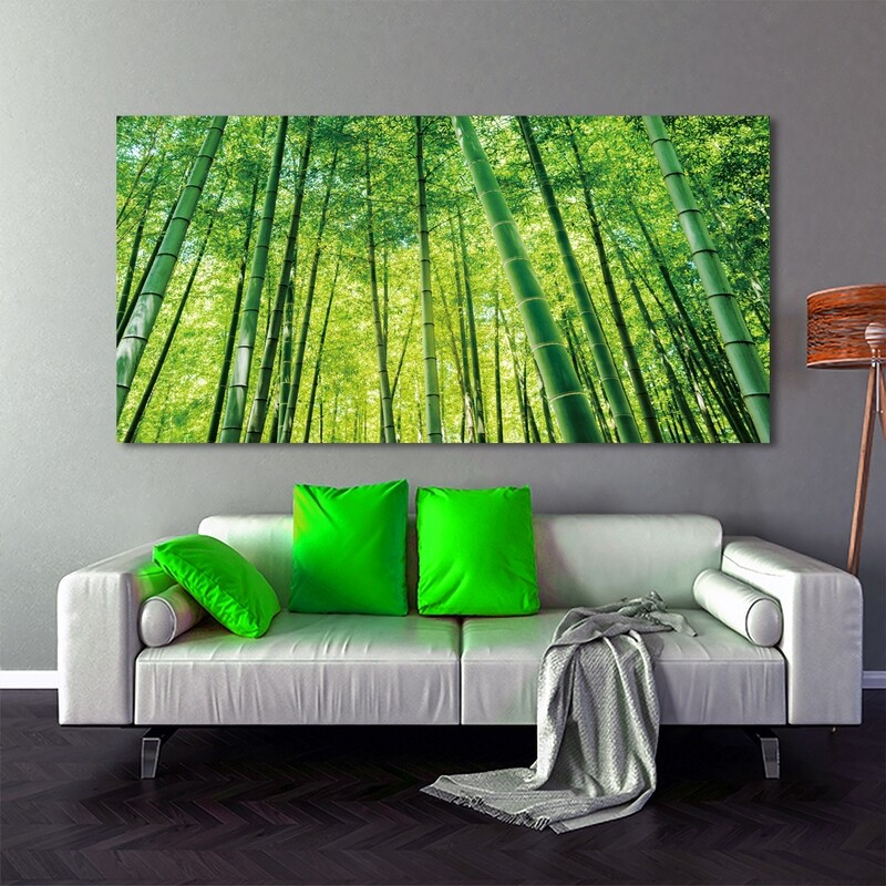 Bamboo Forest - Modern Luxury Wall art Printed on Acrylic Glass - Frameless and Ready to Hang