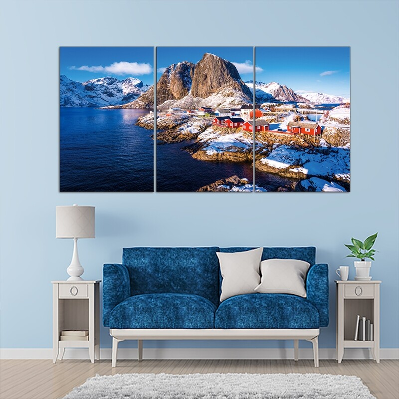 Lofoten Island, Norway  - Modern Luxury Wall art Printed on Acrylic Glass - Frameless and Ready to Hang