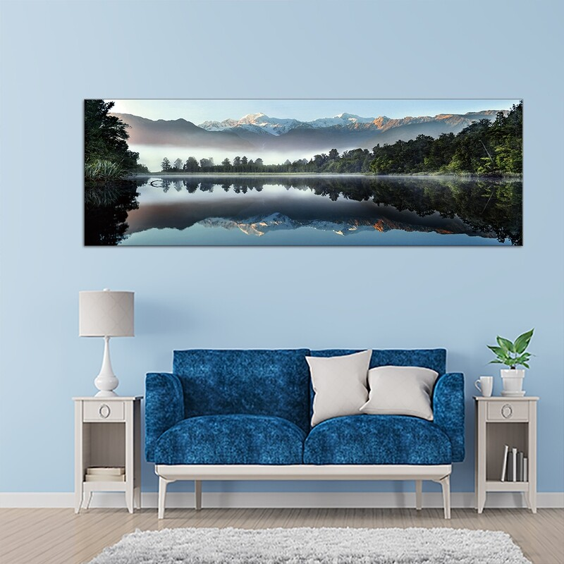 Mirror Lake  - Modern Luxury Wall art Printed on Acrylic Glass - Frameless and Ready to Hang