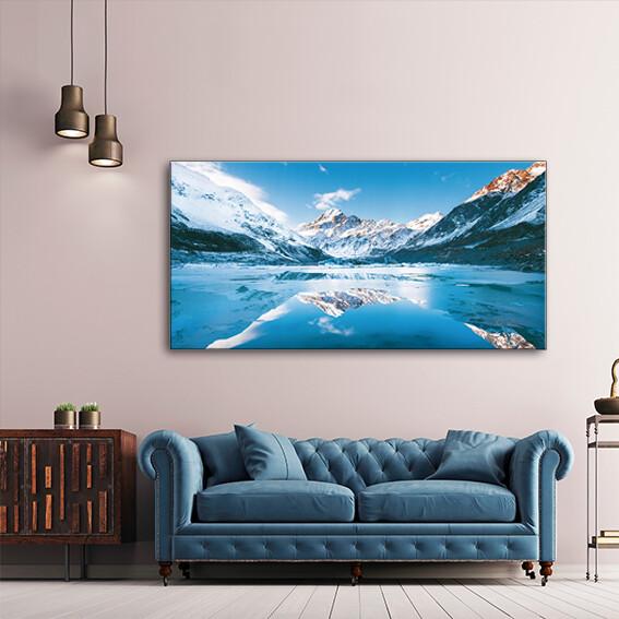 Hooker Lake, New Zealand  - Modern Luxury Wall art Printed on Acrylic Glass - Frameless and Ready to Hang