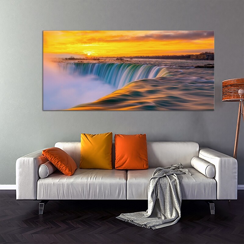 Niagra Falls , Canada  - Modern Luxury Wall art Printed on Acrylic Glass - Frameless and Ready to Hang