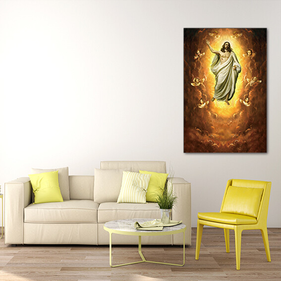 Jesus Christ Ressurection  - Modern Luxury Wall art Printed on Acrylic Glass - Frameless and Ready to Hang