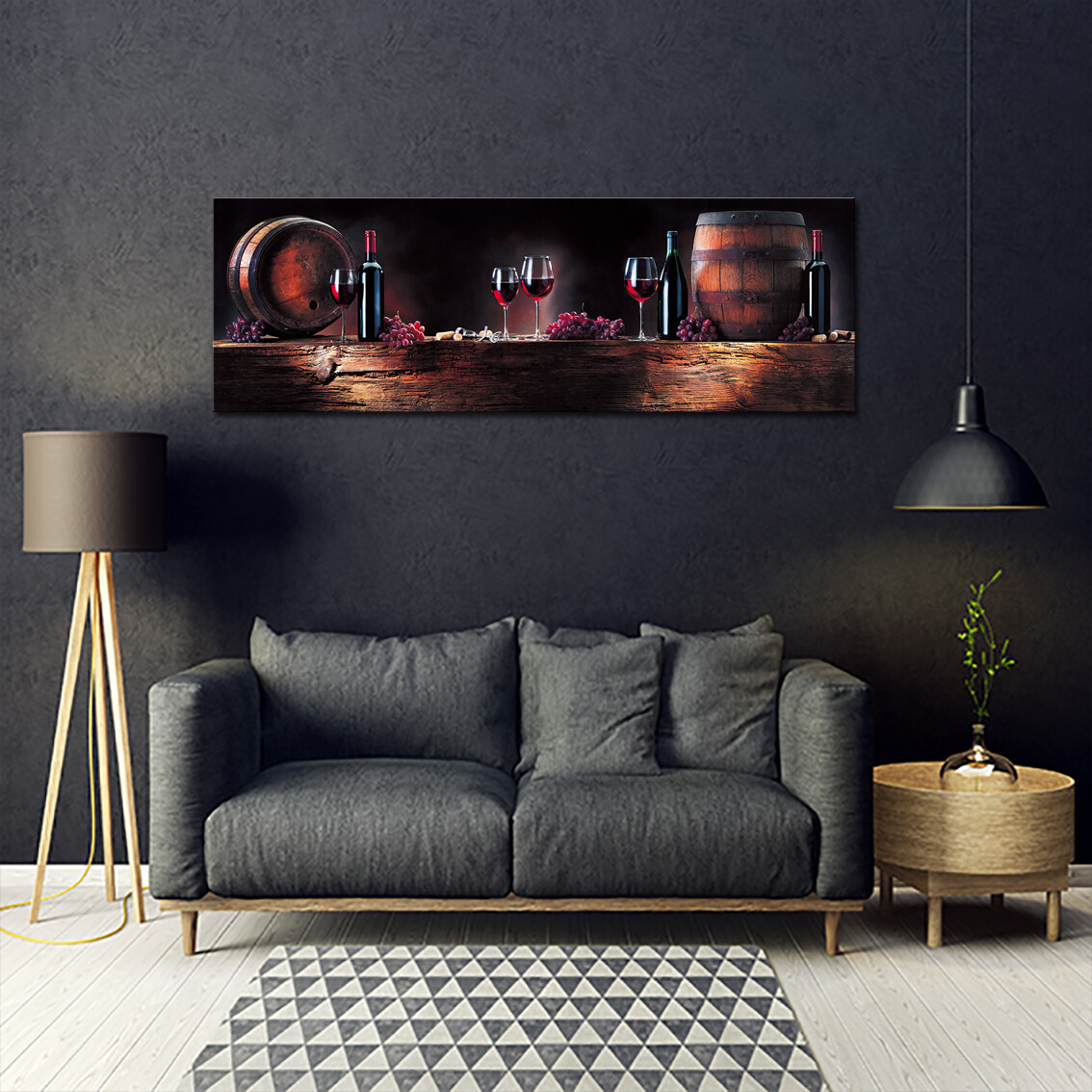 Barile - Modern Luxury Wall art Printed on Acrylic Glass - Frameless and Ready to Hang