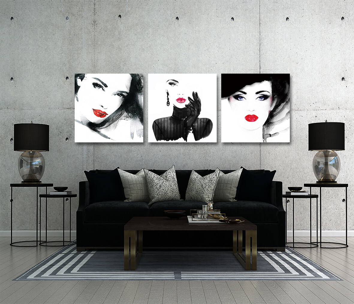 Glamorous Woman  - Modern Luxury Wall art Printed on Acrylic Glass - Frameless and Ready to Hang