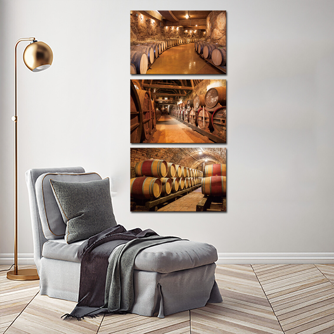 Wine Cellar  - Modern Luxury Wall art Printed on Acrylic Glass - Frameless and Ready to Hang