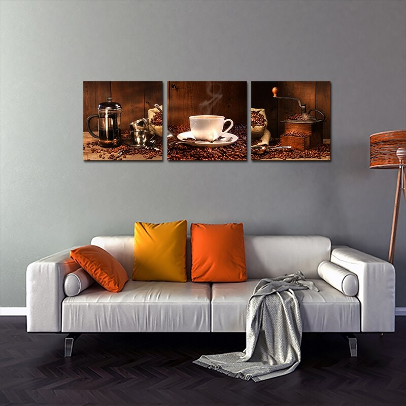 Coffee Break with Beans  - Modern Luxury Wall art Printed on Acrylic Glass - Frameless and Ready to Hang