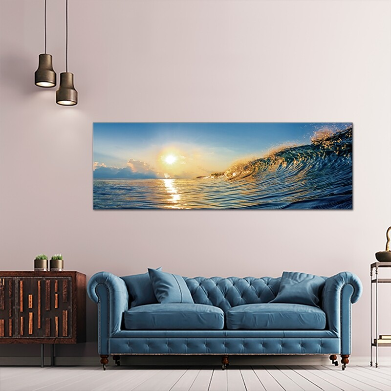 Wave in Motion  - Modern Luxury Wall art Printed on Acrylic Glass - Frameless and Ready to Hang