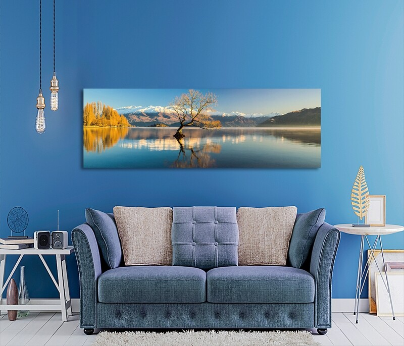 Lake Wanaka New Zealand - Modern Luxury Wall art Printed on Acrylic Glass - Frameless and Ready to Hang