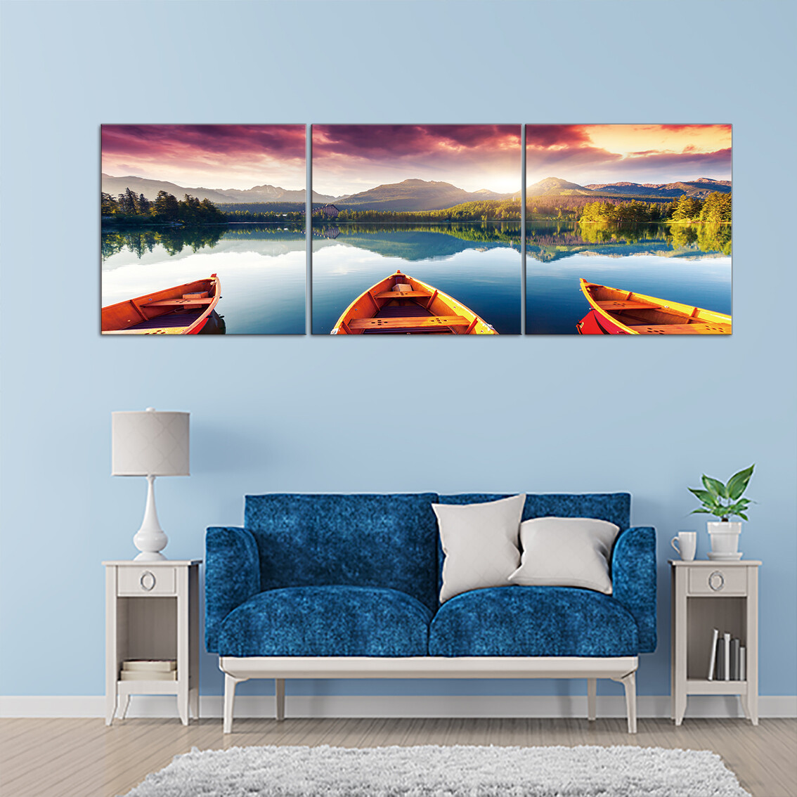 Living By The Ocean  - Modern Luxury Wall art Printed on Acrylic Glass - Frameless and Ready to Hang