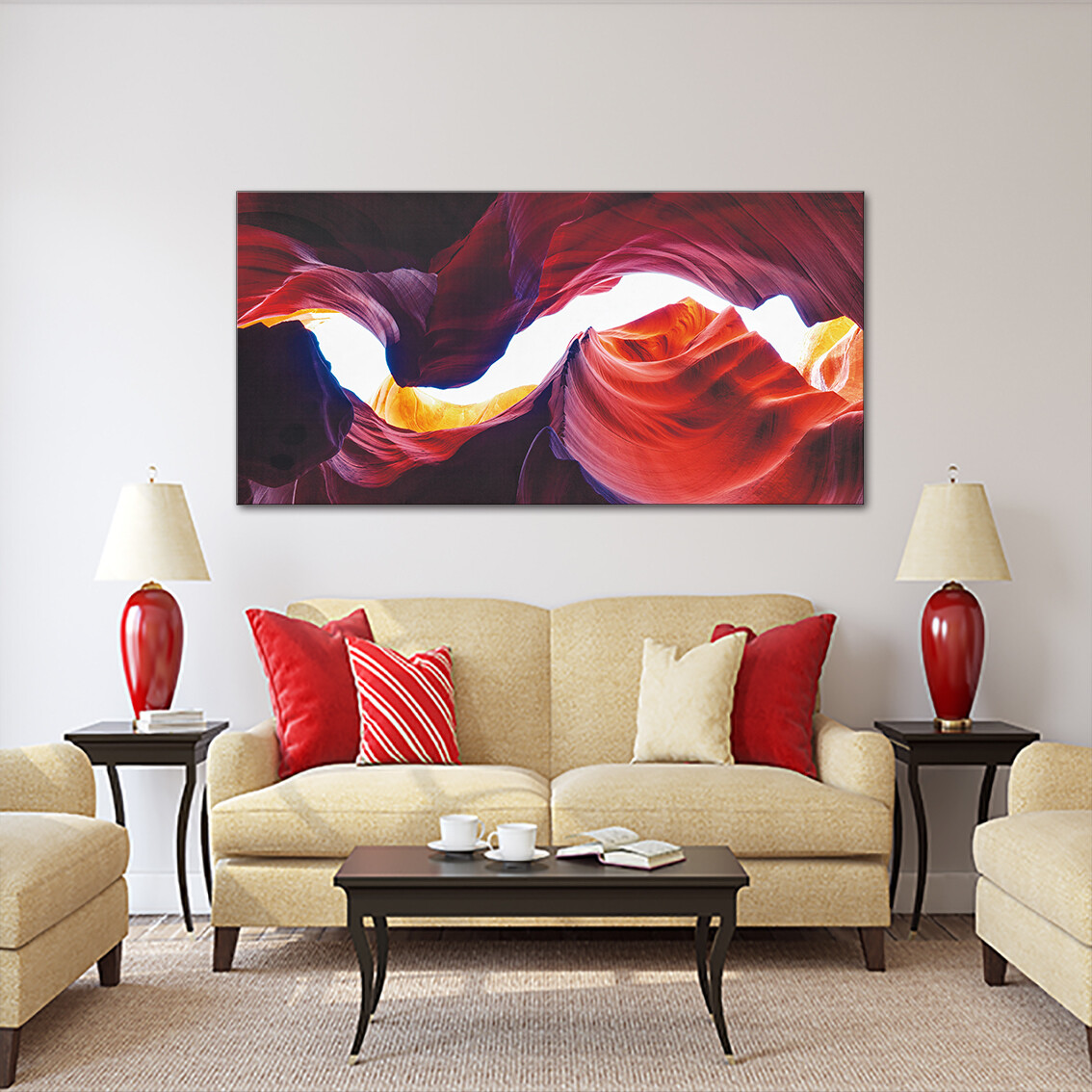 Antelope Canyon - Modern Luxury Wall art Printed on Acrylic Glass - Frameless and Ready to Hang