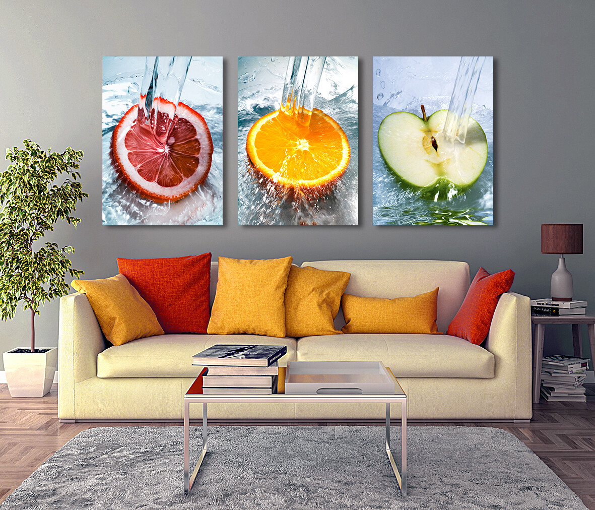 Fresh Fruits  - Modern Luxury Wall art Printed on Acrylic Glass - Frameless and Ready to Hang