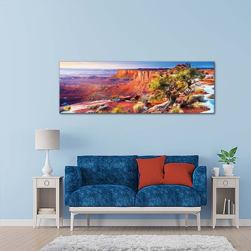 Canyonlands Utah - Modern Luxury Wall art Printed on Acrylic Glass - Frameless and Ready to Hang