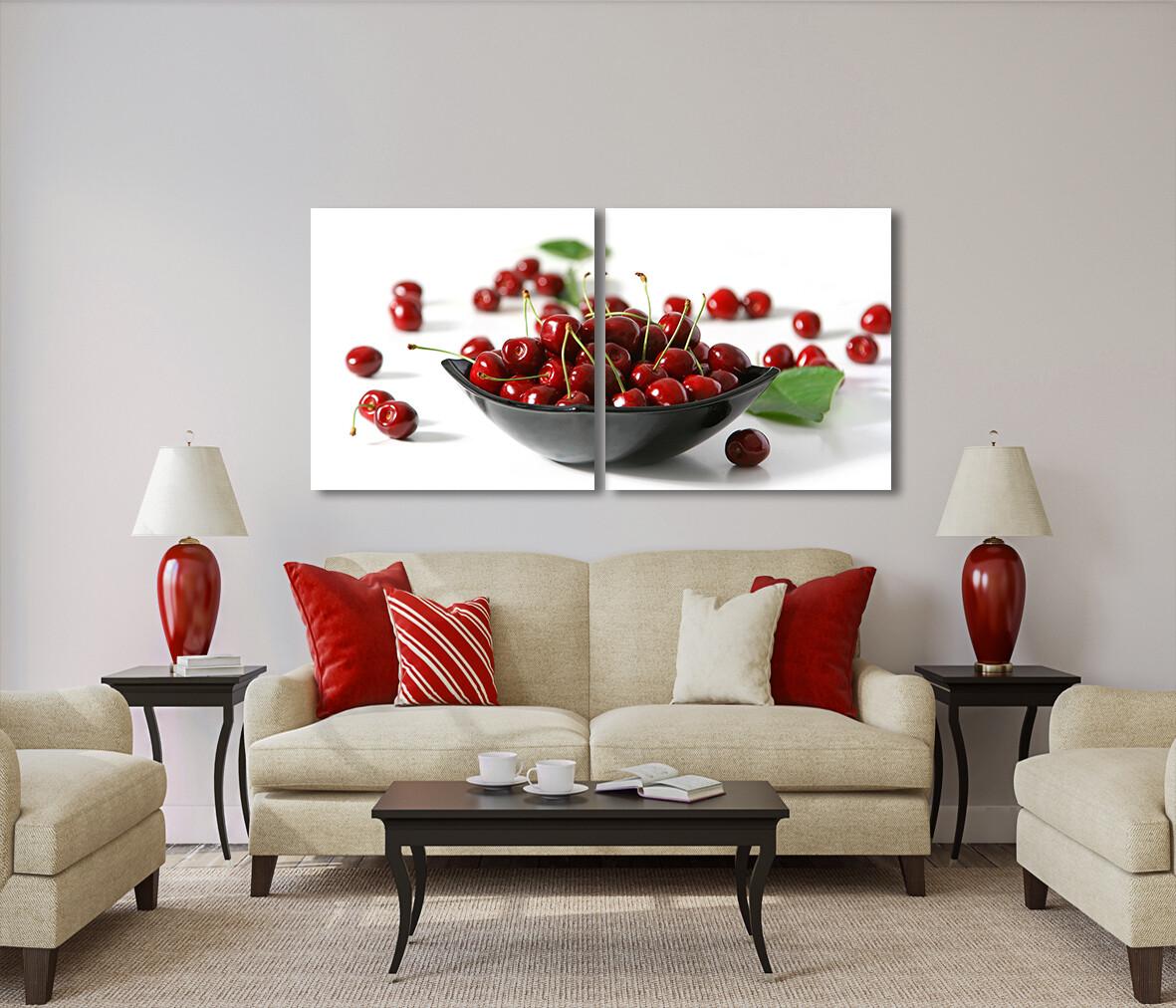 Dish of Red Cherries
