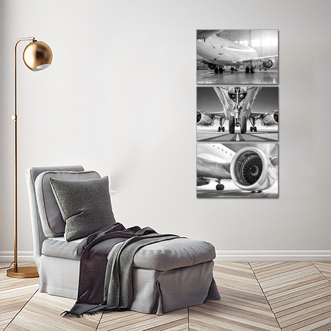 Aeroplane -Aircraft- Jet Engine Picture Printed On Acrylic Glass Panel - Modern Luxury Acrylic Glass Wall art - Frameless and Ready to Hang