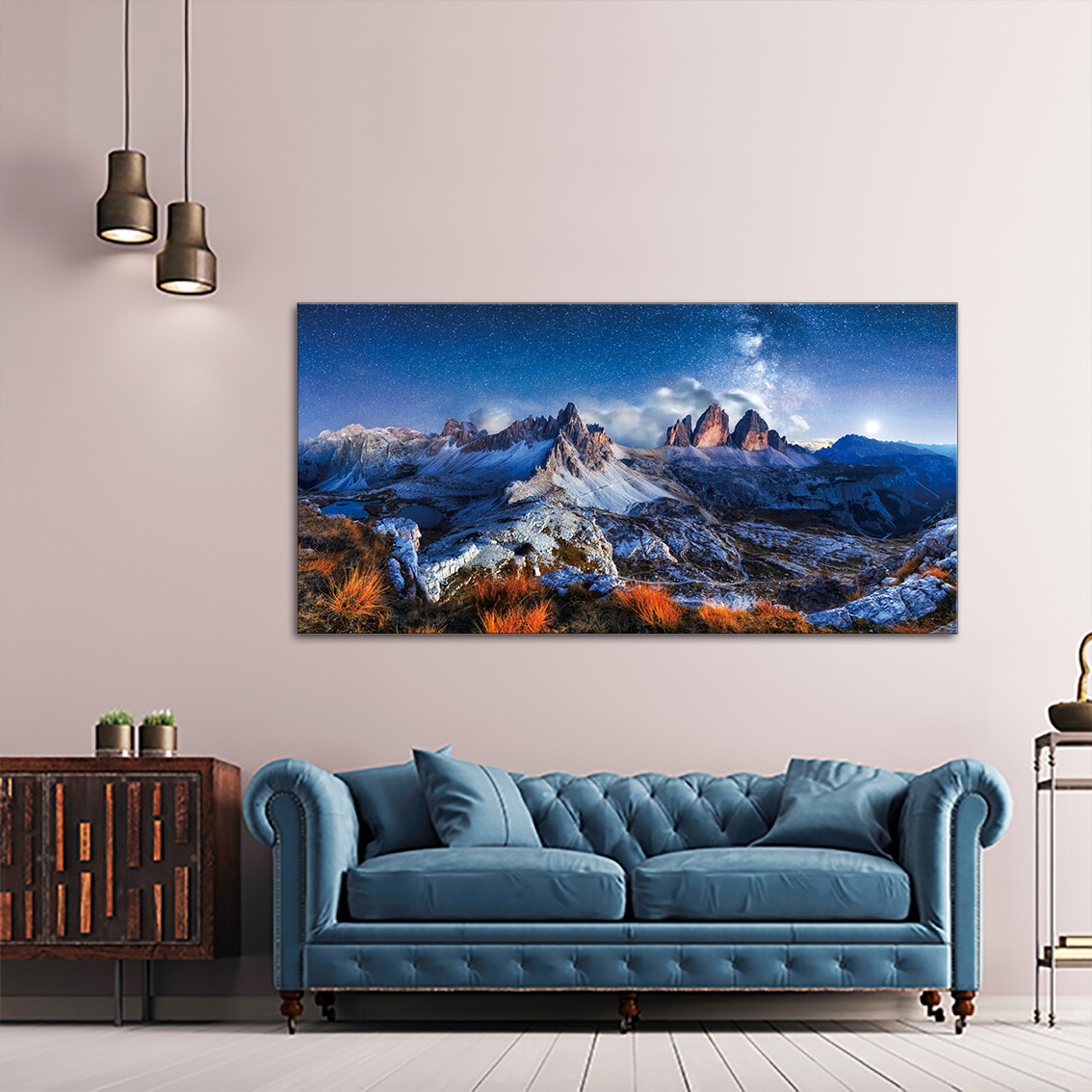 Swiss Alps  - Modern Luxury Wall art Printed on Acrylic Glass - Frameless and Ready to Hang