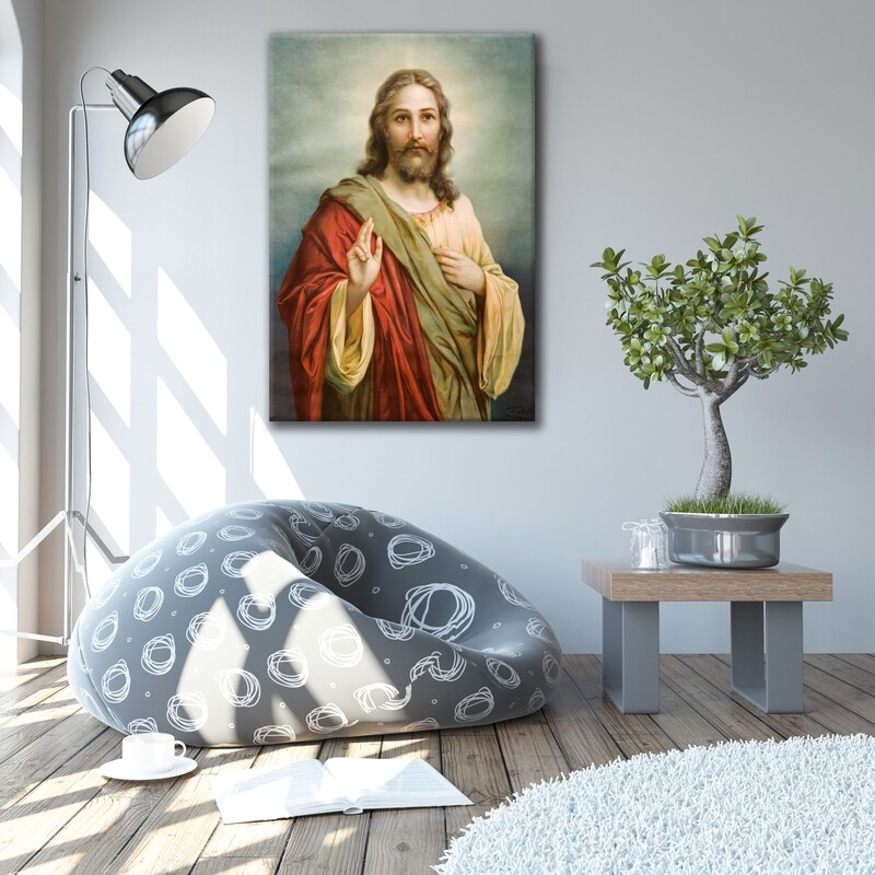 Jesus Christ Framed Wall Art -Jesus Picture Printed On Acrylic Glass- Christian Wall Art